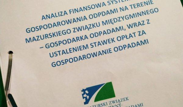 Do pobrania: ANALIZA FINANSOWA MZMGO - ustalająca stawki opłat za śmieci